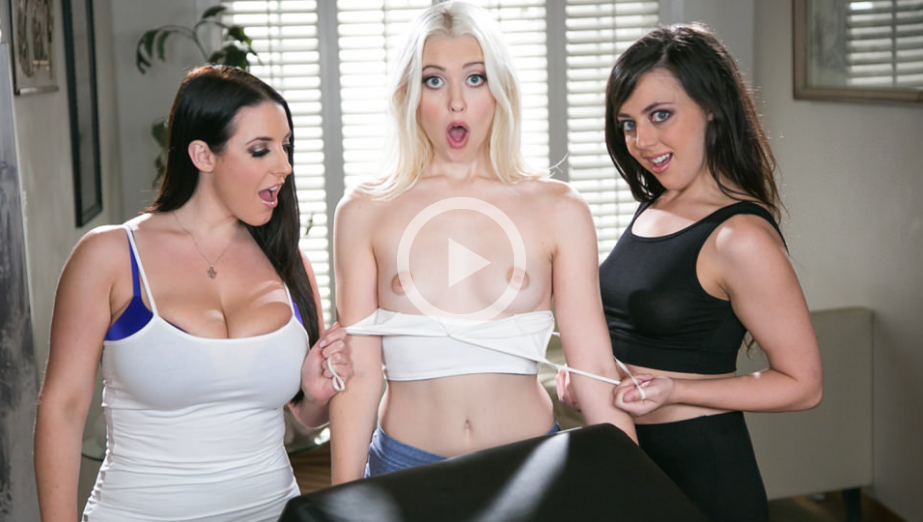AllGirlMassage – Three Girls And Bolster – Angela White, Whitney Wright , Chloe Cherry