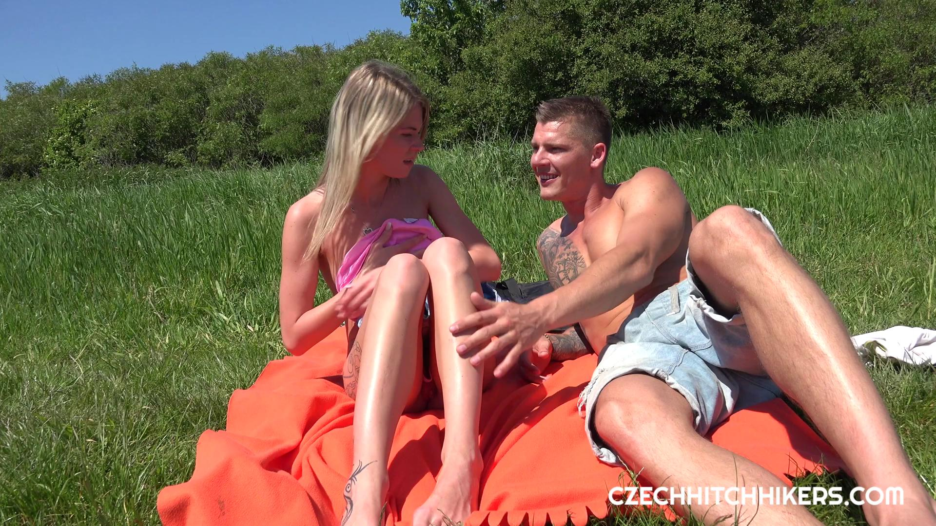 CzechHitchHickers – Claudia Macc Fucked Outside CZECH